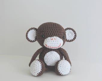 Monkey plush monkey plush Interior, cotton, handmade, cute animal plush