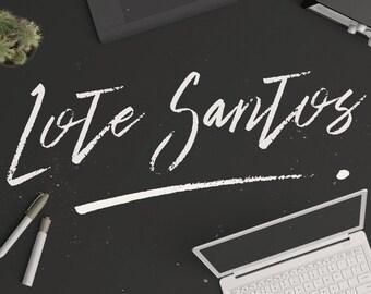 Lote Santos Modern Brush Font Download with Bonus