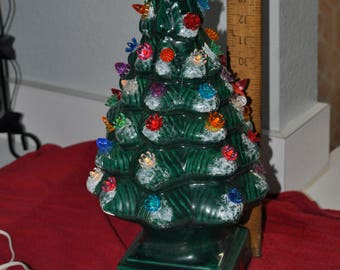 Large One Piece Ceramic Christmas Tree