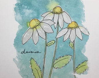 Daisies remind me of you (art print)