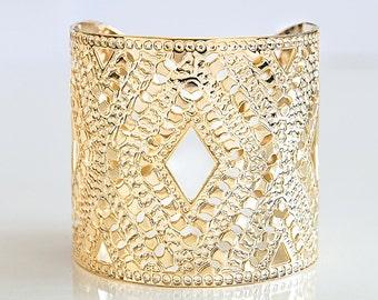 Gold cuff, gold bangle, gold jewelry, gold bracelet, cuff bracelet, Statement Cuff, greek cuff, criss cross jewelry