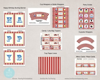 Circus Party Printable Decorations | Carnival Party Printable Decorations
