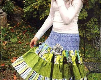 Sewing Pattern for a Emma Skirt designed by Butterfly Kisses in Adult Small, Medium and Large sizes