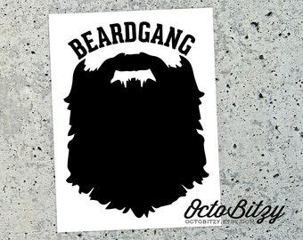 Beard Gang, No Shave, Vinyl Decal Sticker