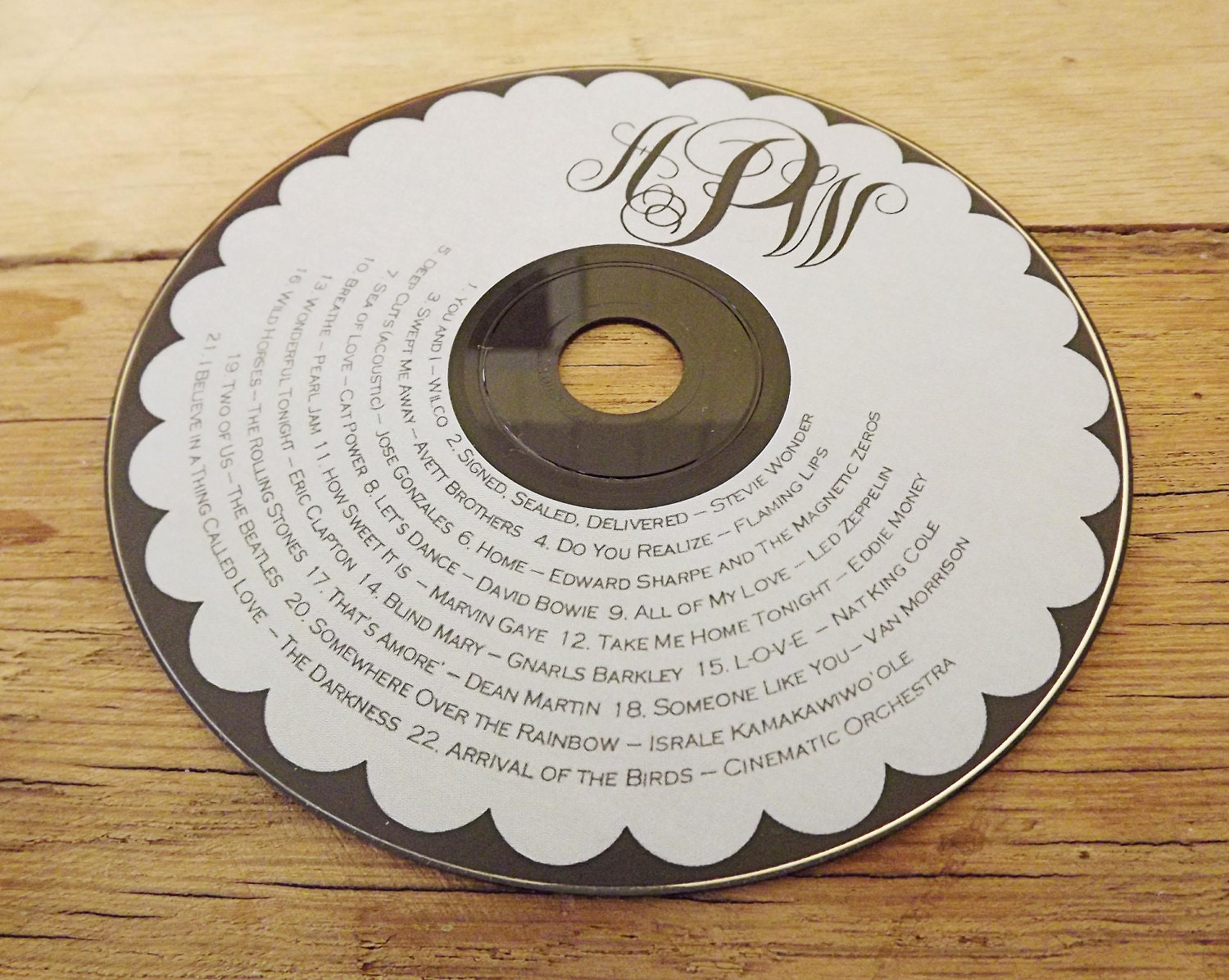 It is an image of Bewitching Personalised Cd Labels Wedding
