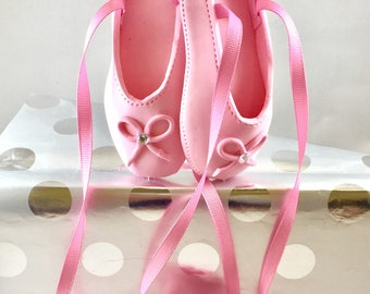 Ballerina Cake Topper Pink Ballet shoes cake topper Birthday cake topper Ballerina cake decorations Ballerina birthday decor Ballerina cake