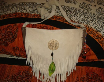 customizable amer Indian style leather handbag