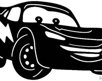 Cars-Lightning McQueen-DXF cut file