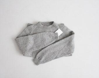 gray wool sweatshirt | sweatshirt sweater | shaggy wool sweater