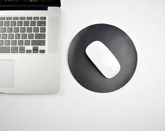 Leather mouse pad circle/laptop mouse pad/leather mousepad/leather mouse mat/leather mat/leather desk mat/leather desk pad/laptop mousepad