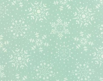 Very Merry by Sandy Gervais for Moda 17832 15   Snowflakes, Lt. Aqua