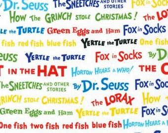 "17"" Remnant, Dr. Seuss, Celebrate Seuss, ADE-10789-203, Robert Kaufman Fabric, 100% Cotton, #R616"