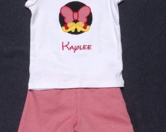 Girls Disney Shorts set, FREE MONOGRAM, matching, shorts and tee, Boys Disney, Girls Disney, Siblings, Brother and Sister, Twins, Shorts Set