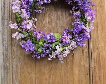 Spring Wreath, Lilac Wreath, Purple Wreath, Floral Wreath, Summer Wreath, Lilac, Front Door Wreath, Front Door Decor, Mother's Day Gift