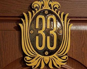 Club 33 Inspired Sign / Plaque (Disney Prop Inspired Replica)