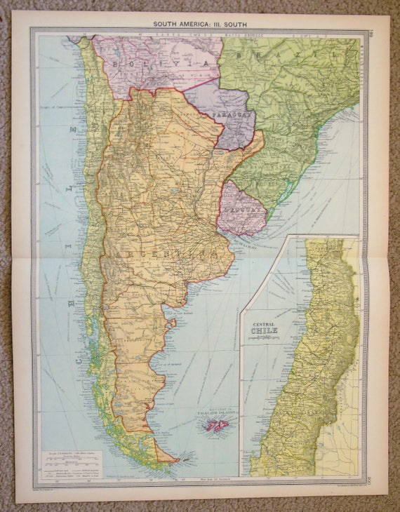 Antique map south america patagonia argentina chile te gusta este artculo gumiabroncs Image collections