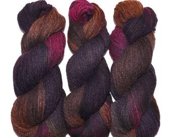 Hand dyed yarn - Alpaca / American wool yarn, Worsted weight, 240 yards - Manco-Capac