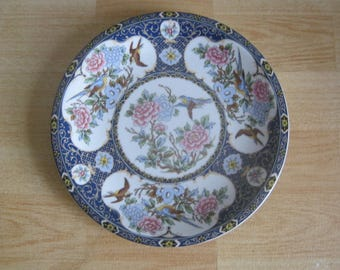 Decorative Oriental Birds and Flowers Wall Plate