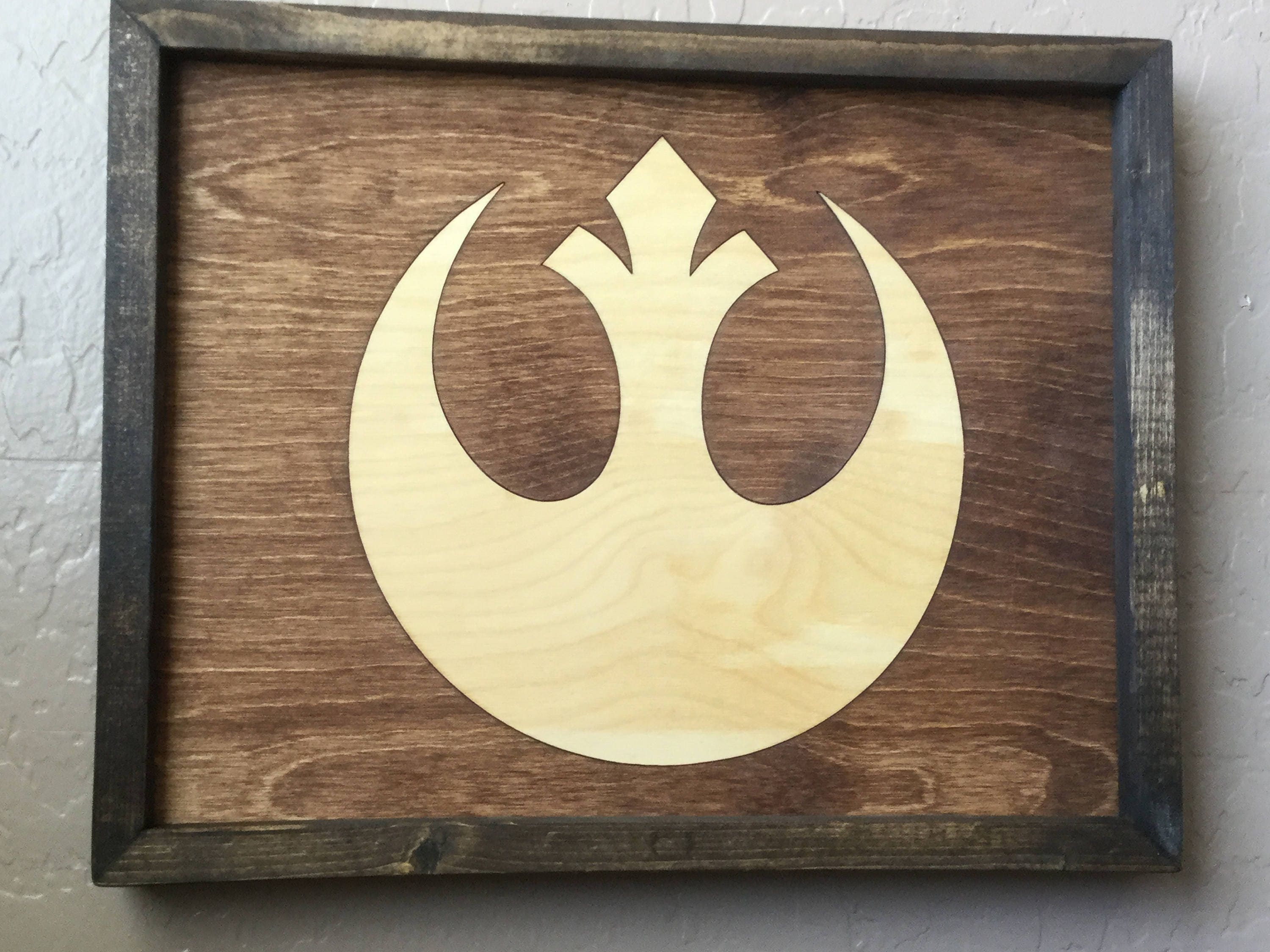 Star Wars Rebel Alliance Wooden Inlay Wall Art