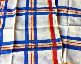 Set of 4 Vintage Plaid Napkins