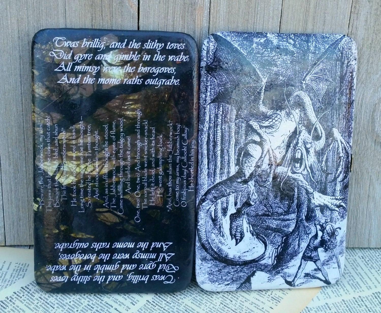 Jabberwocky Brieftasche Alice im Wunderland Brieftasche