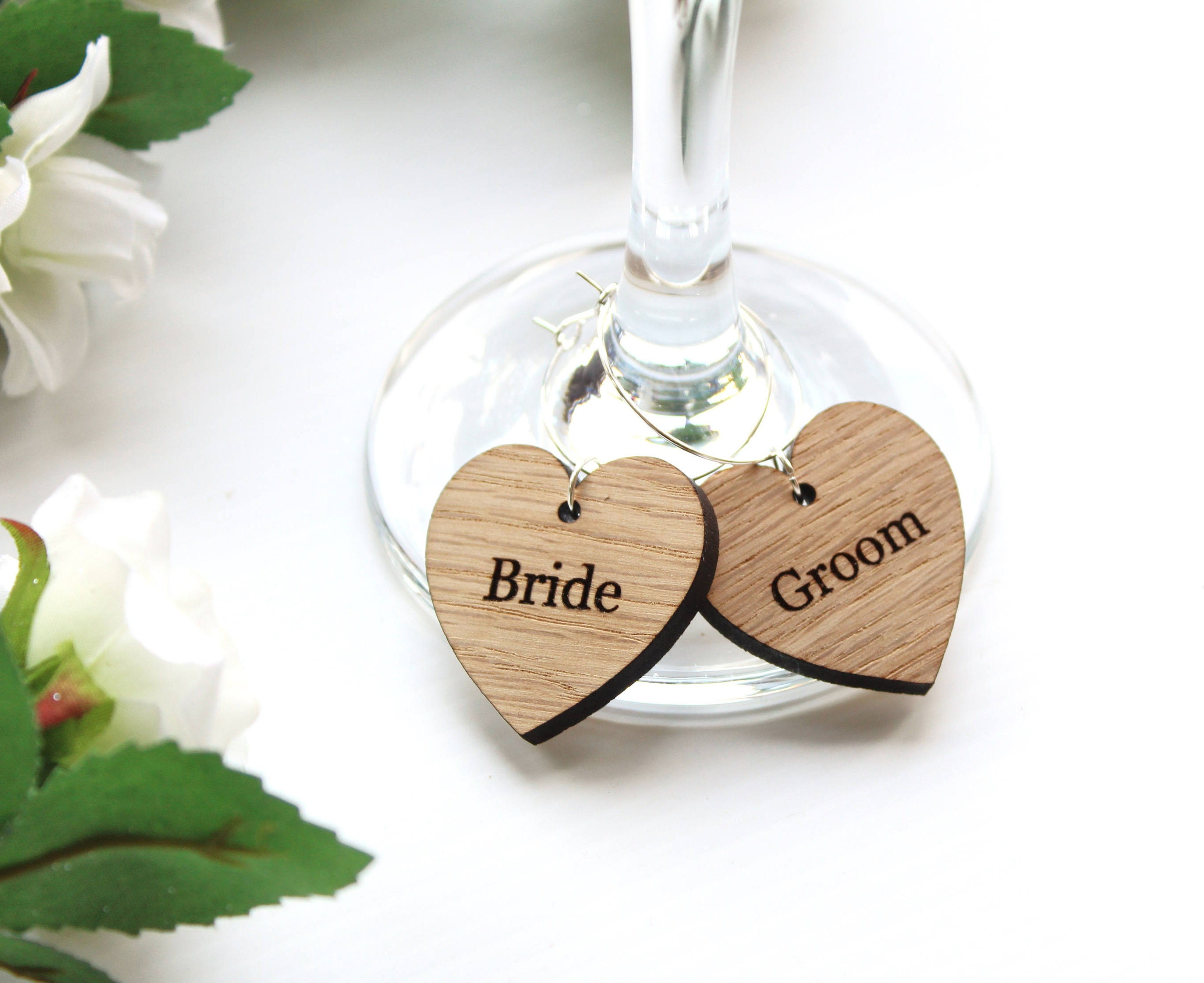 Wedding Favour Ideas Wine Glass Charms Wooden Wine Glass