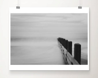 ocean photograph beach photograph black and white photography landscape photograph coastal print beach house decor ocean print