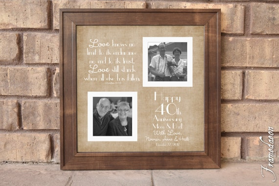 What Gift For 40th Wedding Anniversary: 40th Wedding Anniversary Gift Anniversary Gift For Mom Dad