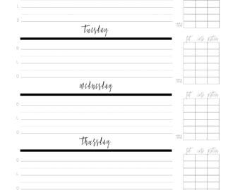 meal tracker macros printable