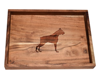 Custom/Personalized Bar Tray - Engraved Dog Breeds - Choose Any Breed and Text - Great Housewarming, Father's Day or Newly Wed Gift