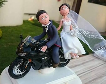 Custom wedding Cake topper personalized French Cold porcelain