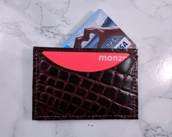 Leather Card Holder with Premium Leather Outer and leather Inner - DORNEY assorted variations available