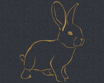 Rabbit hare - Machine embroidery design - 2 size for instant download