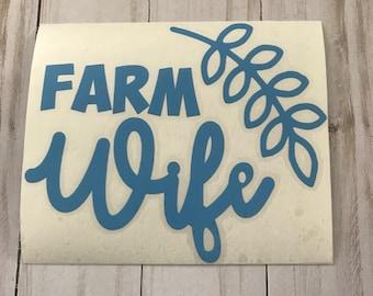 Farm Wife Car Decal