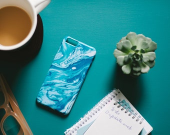 SALE! Abstract Blue and Turquoise iPhone 6 6s Case - Ocean Inspired iPhone 6 6s Case - Wave iPhone 6 6s case - Hard Plastic, Slim Fit