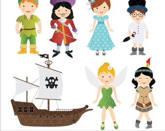 Digital Clipart - Neverland clip art, Instant download, PERSONAL USE ONLY