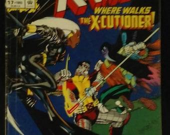 The Uncanny X-MEN Where Walks The X-Cutioner - 1993