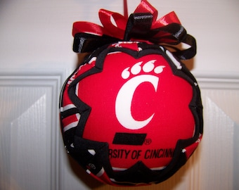 University of Cincinnati/ Bearcats Quilted Ornament