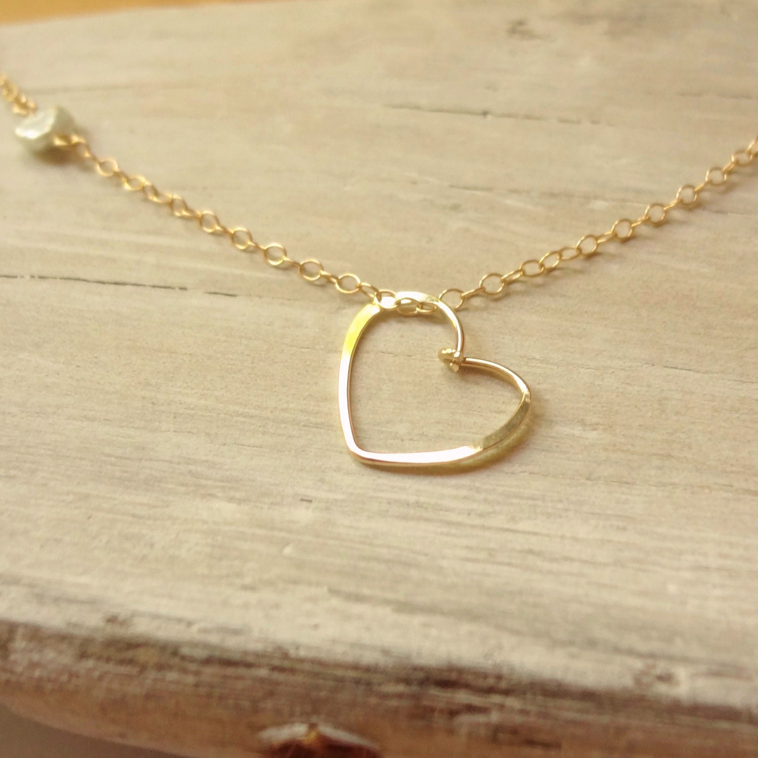 necklace set with chain zirconia heart gold sterling cubic silver dcn chains
