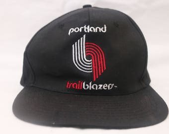 "Rare 80's Vintage ""PORTLAND TRAILBLAZERS"" Original Snapback with Green Under Brim"