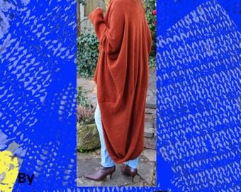Mocha Swirl Mantel Maschinen Knitting Pattern