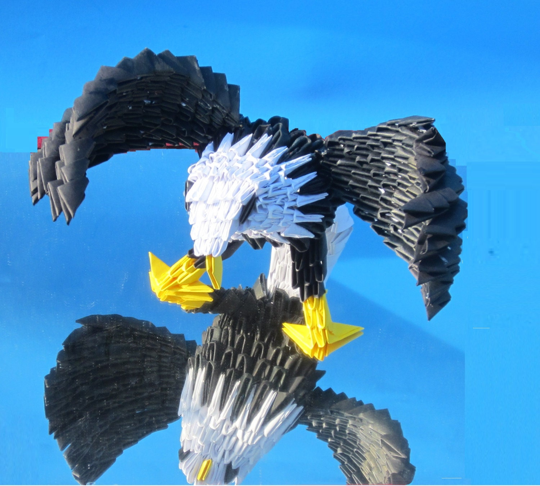 3D origami Majestic eagle - photo#36