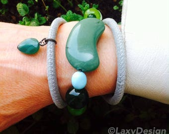 LOVE GREEN ! - Bracelet with semiprecious stones