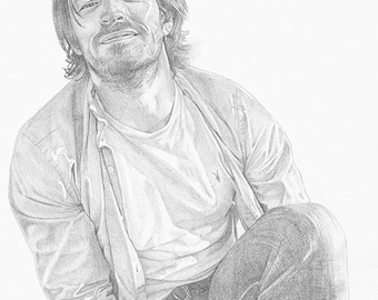 "Eoin Macken Portrait Drawing - 8x10"" Print"