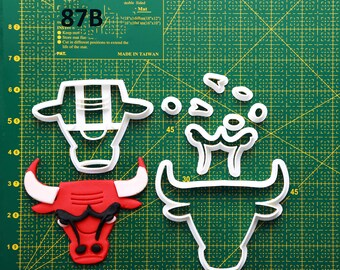 Chicago Bulls Cookie Cutter Chicago Bulls Fondant Cutter Chicago Bulls Party  Chicago Bulls Birthday Chicago Bulls Baby Chicago Bulls
