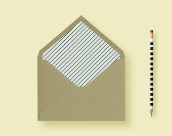 Diagonal Striped Envelope Liner, A7 Envelope Liner, Euro Flap Envelope  - Printable or Printed - FREE SHIPPING