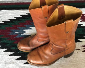 Vintage Levi Strauss Orange Tag Leather Motorcycle Boots Size 13