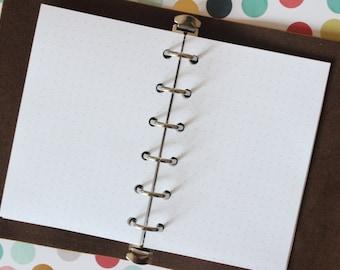 Printed POCKET Dot Grid Planner Inserts