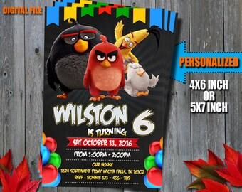 Angry Birds Invitations / Angry Birds Birthday Invitation / Angry Birds Party Invitation / Angry Birds Birthday Card / Angry Birds Printable