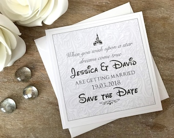 Save the Date cards Disney themed